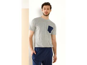 Plain Blue Комплект Мъжка Пижама XL Тъмносиньо