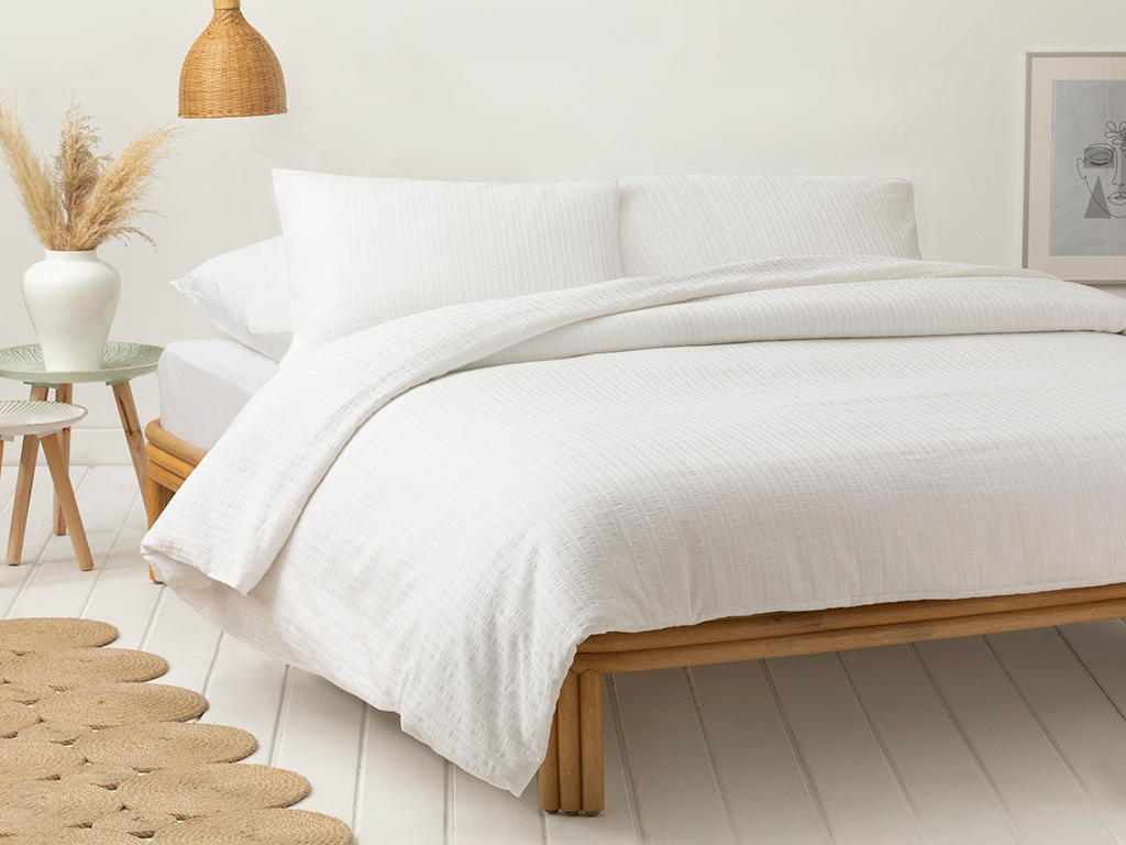 Duvet Cover Set 160x220 Cm Beyaz