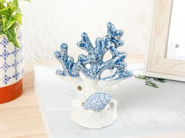 Blue Shell Декоративен Предмет Синьо