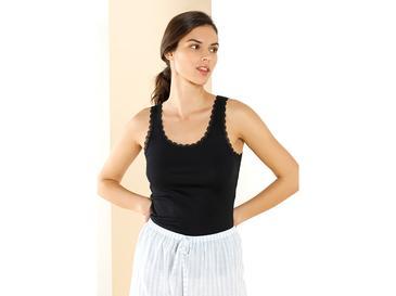 Basic Cotton Дамски Потник Памук M Черно