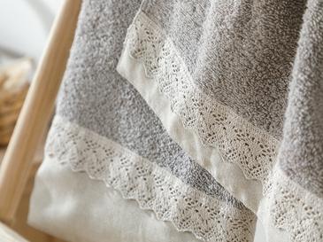 Lace&linen Комплект Хавлии 30x45-50x80 cm Тъмнобежово