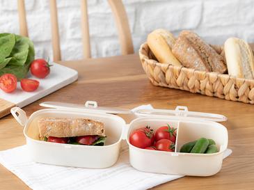Trendy Кутия за Обяд Пластмаса 15x10 См Бежово