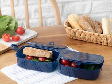 Trendy Кутия за Обяд Пластмаса 15x10 См Тъмносиньо