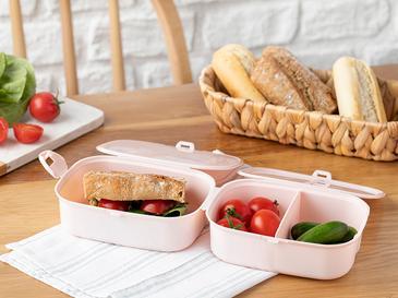Trendy Кутия за Обяд  Пластмаса 15x10 См Пудра
