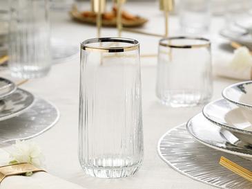Puget Чаша За Безалкохолно 4 Броя Стъкло 10x4.5x9 Cm Злато