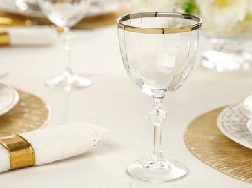 Puget Чаша 2 Броя Стъкло 280 ml Златисто