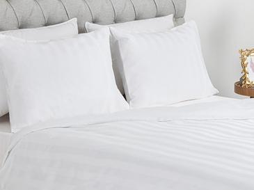 Wide Stripe Комплект Спално Бельо King Size 240x220 См Бяло