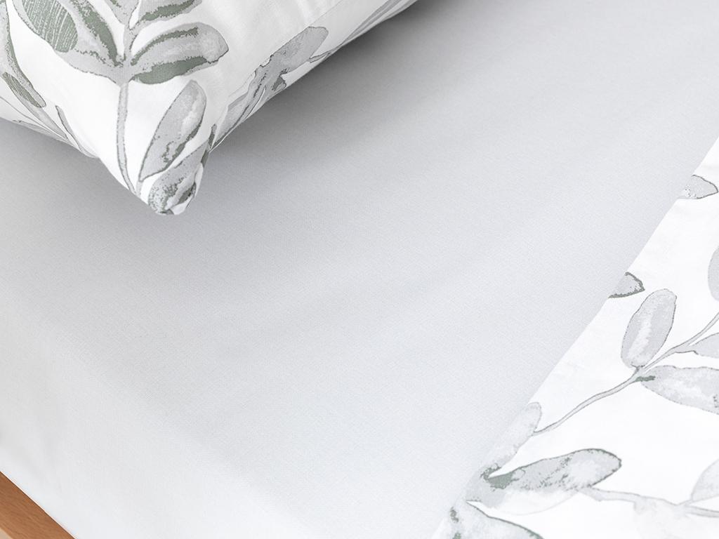 Olive Twig Krep For One Person Duvet Cover Set 160x220 Cm Zeytin Yeşili