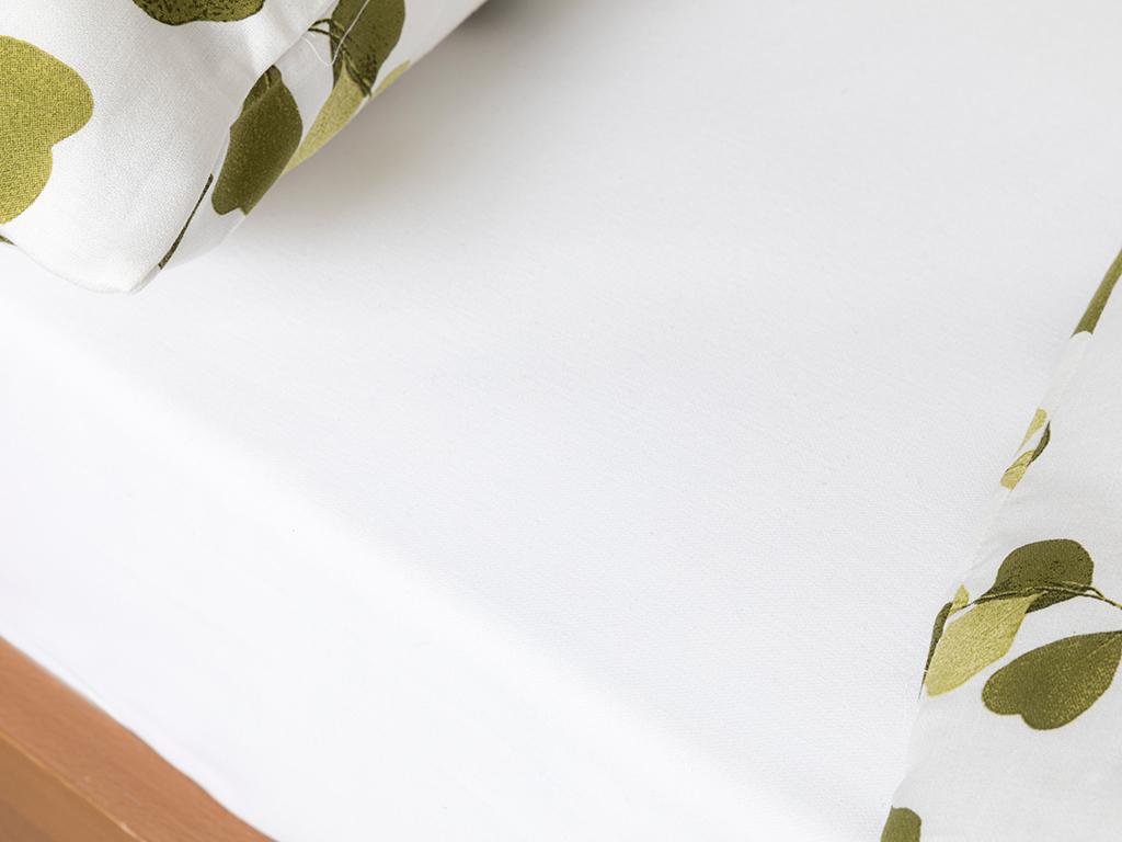 Krep For One Person Duvet Cover Set 160x220 Cm Yeşil