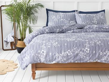 Pure Flowers Комплект Спално Бельо Единичен Размер 160x220 См Тъмносиньо