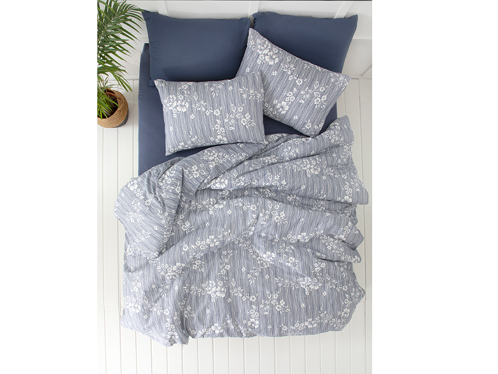 Krep For One Person Duvet Cover Set 160x220 Cm Lacivert