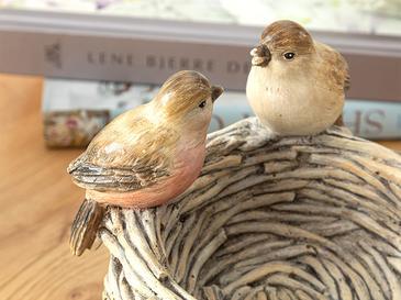 Birds Декоративен Предмет 16x16x14 См Кафе