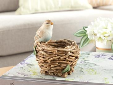 Happy Bird Декоративен Предмет 10x10x12,5 См Кафе
