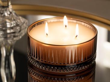 Luxury Ароматизиран Свещ 370 G Кафяво