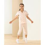 Gom& Girl Комплект Детска Пижама 7-8 Години Пудра