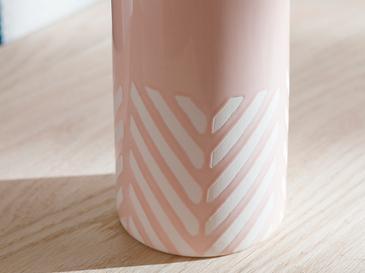 Bottle Ваза 8.8x8.8x20.5 Cm Розовo