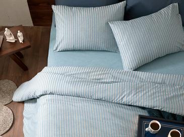 Classy Комплект Спално Бельо Super King Size 260x220 Cm Синьо