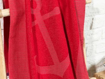 Anchor Плажна Хавлия Жакардов 70x140 Cm Червено