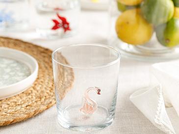 Flamingo Чаша Стъкло 345 Ml Розово