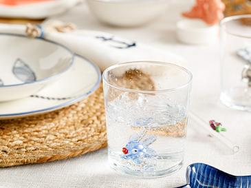 Blue Fish Чаша Стъкло 345 Ml Синьо