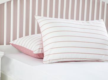 Textured Stripe Калъфка за Възглавница 2 Бр 50x70 См Розово