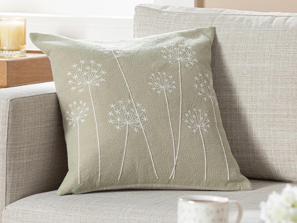 Spring Garden Gobelin Cushıon Cover 45x45 Cm Light Green.