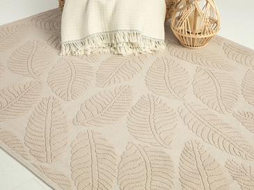 Leafy Килим Памучен 8,7x2,0x18,5 Cm Бежово