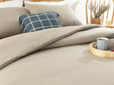 Спално Бельо Компле King Size 24,5x33,0 Cm Пясъчно Бежово