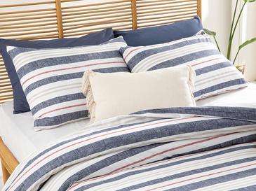 Modern Stripe Сет Горен Плик+1 Калъфка Единичен Размер 160x220 См Тъмносиньо