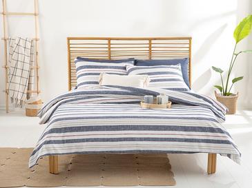 Modern Stripe Комплект Спално Бель King Size Памучен 24,5x33,0 Cm Lacivert