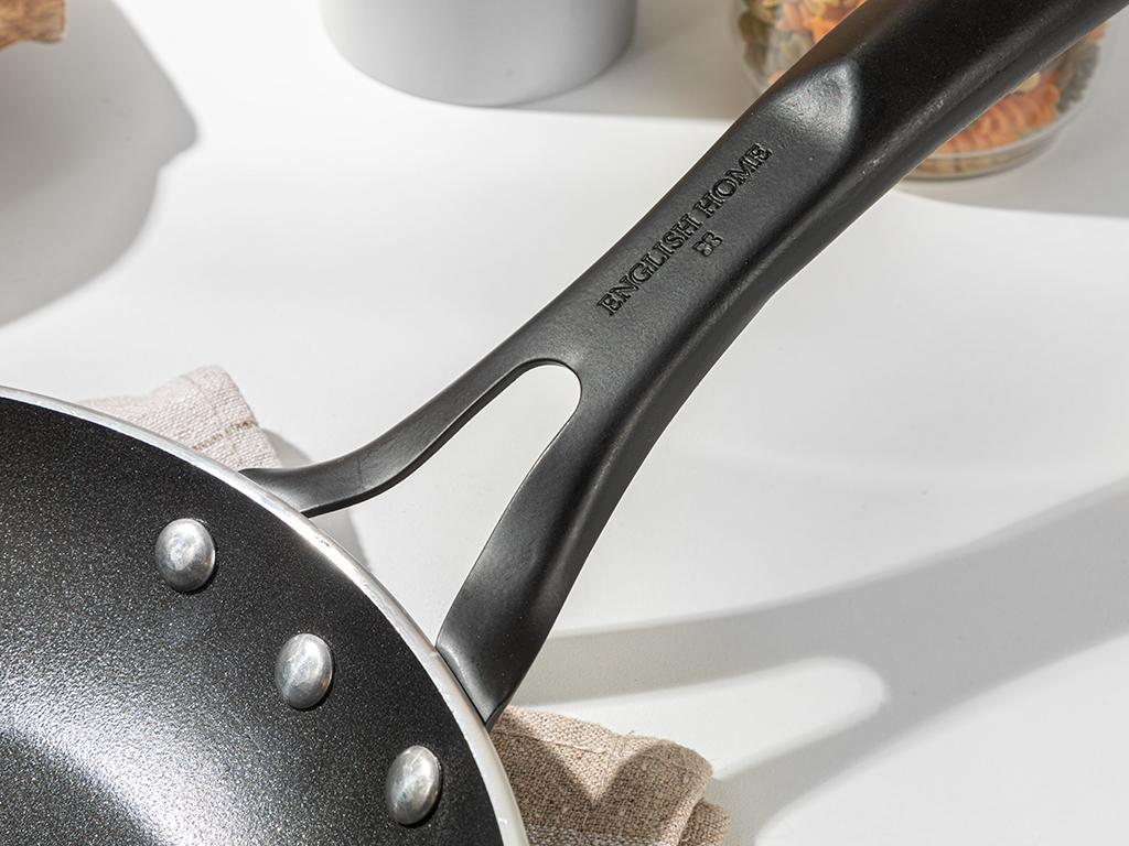 Diamond Aluminum Fry Pan 24 Cm. Black