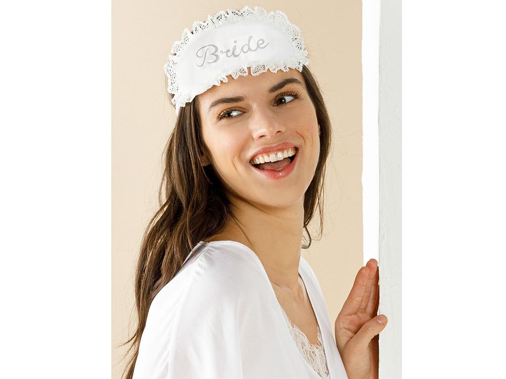 Bride Viscose Eye Mask Mix White