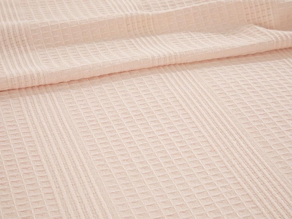 Grace Scalloped Double Person Summer Blanket 200x220 Cm. Pembe