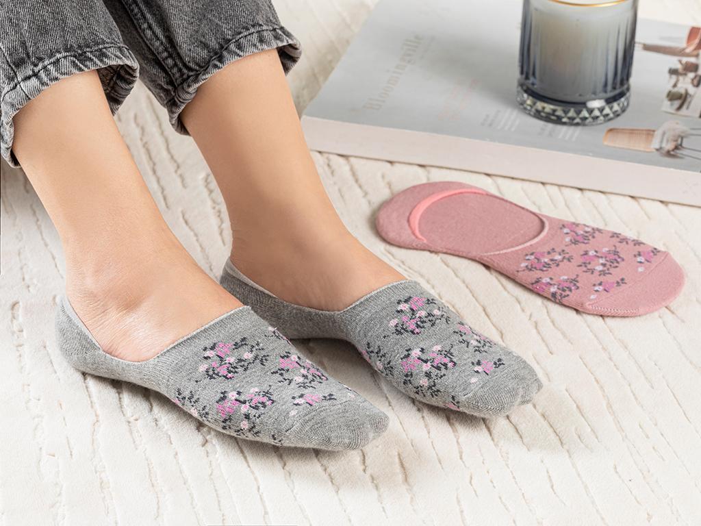 Diary Cotton Socks Mix Pembe