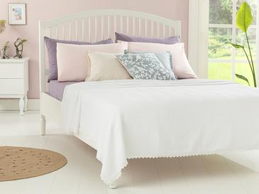 Grace Пике-Лятно Одеяло Единичен Размер 150x220 См Бяло