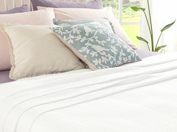 Grace Пике-Лятно Одеяло Двоен Размер 200x220 См Бяло