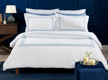 Greek Ribbon Комплект Спално Бельо Единичен Размер 160x220 См Синьо