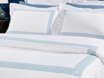 Greek Ribbon Комплект Спално Бельо King Size 240x220 См Синьо