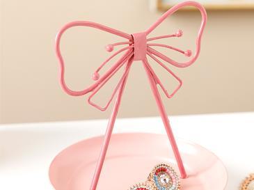 Pink Ribbon Станд За Бижута 7,5x18,0x4,0 Cm Розов