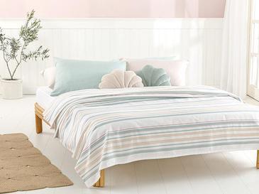 Pure Stripe Пике-Лятно Одеяло Двоен Размер 200x220 См Светлозелено