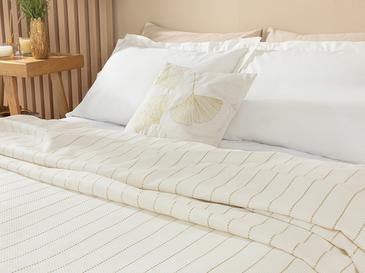 Gold Stripe Комплект Пике-Лятно Одеяло King Size 220x240 См Златисто