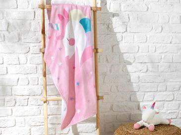 Unicorn Детска Хавлия за Плаж 70x130 См Розово