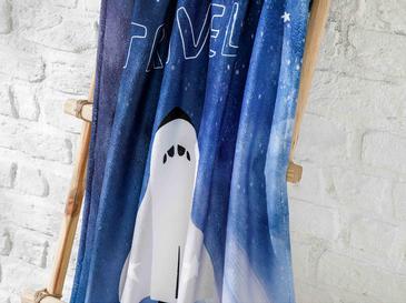 Space Детска Хавлия за Плаж 70x130 См Тъмносиньо