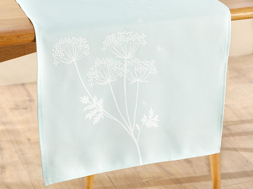 Polyestere Rectangular Runner 40x150 Cm Green