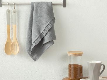Кърпа За Изсушаване С Волани Памучен 40x60 Сиво