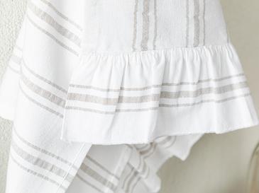 Кърпа За Изсушаване С Волани Памучен 40x60 Бяло