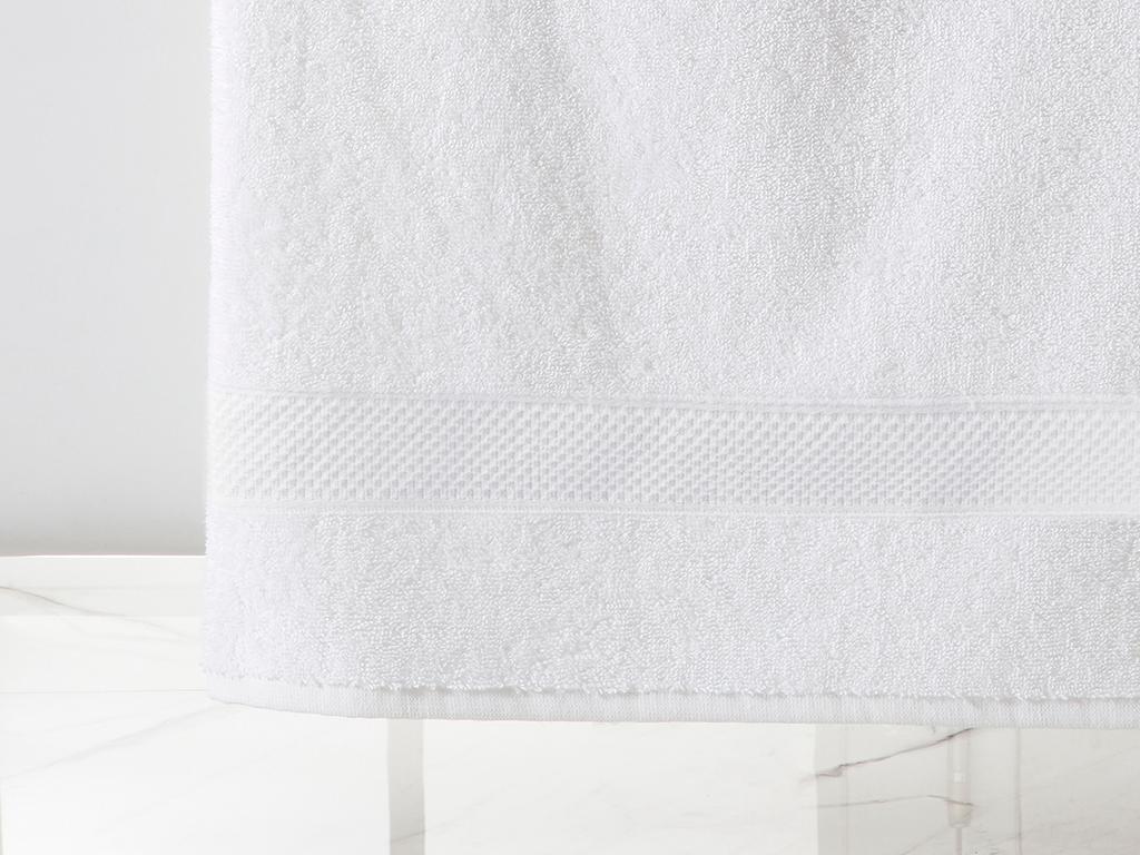Wave Bath Towel 100x150 Cm. Beyaz