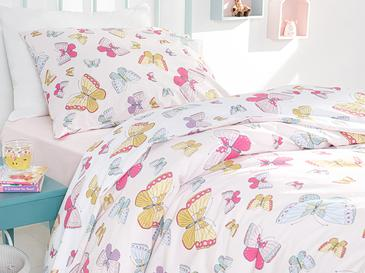 Summer Butterflys Комплект Детско Спално Бельо Памук 160x220 См Розово