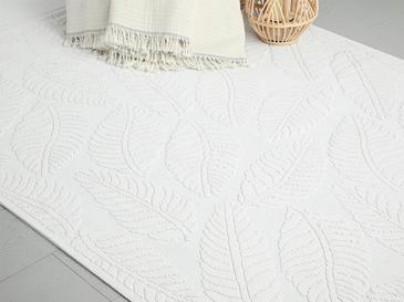 Leafy Килим Памучен 120x160 Cm Бяло
