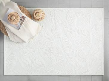 Leafy Килим Памучен 8,7x2,0x18,5 Cm Бяло